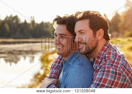 Head And Shoulders Shot Of Romantic Male Gay Couple