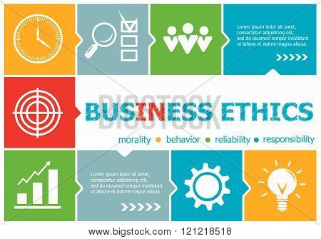 Business Ethics Design Illustration Concepts For Business, Consulting, Management, Career.