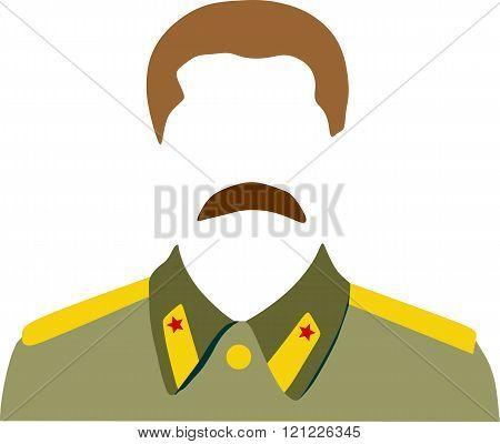 Vector portrait of Joseph Stalin. Soviet Union leader.