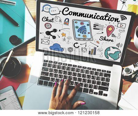 Communication Connection Social Network Concept