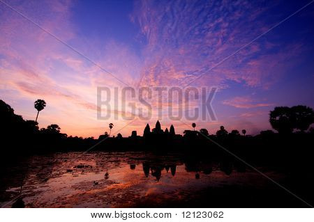 Sunrise in Angkor Wat temple complex in Siem Reap, Cambodia