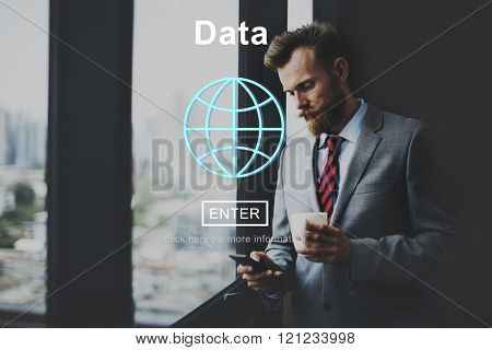 Data Global Information Icon Concept