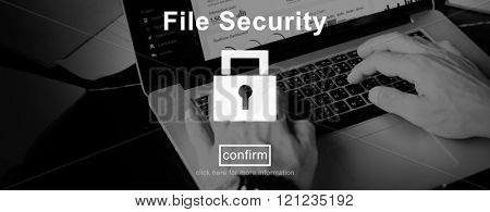 File Security Protection Privacy Interface Concept