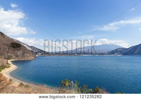 Mountain Fuji and Motosu Lake