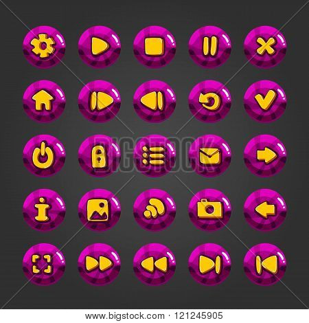 Big Set Of Vector Button For Game Design-8
