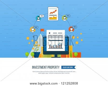 Concept for smart investment, finance, banking, strategic management,