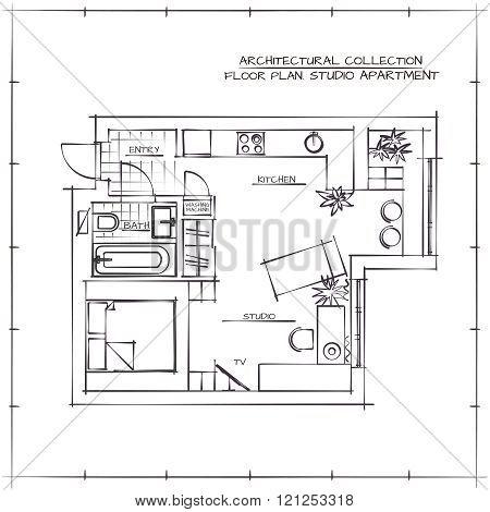 Blueprint. Studio Apartment