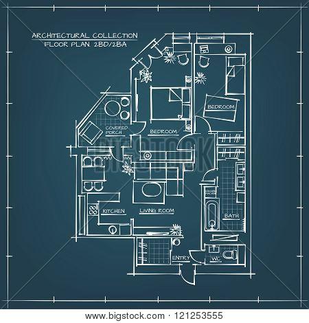 Architectural Blueprint Floor Plan