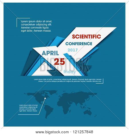 Creative science Infographic Template, Flyer,Banner, Corporate Brochure Design. vector map of the wo