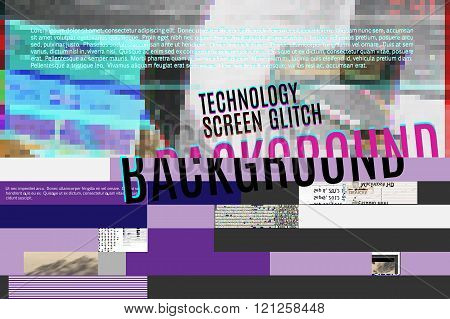 purple screen glitch