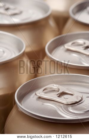 Close Up Of Cans, Portraite View