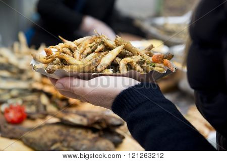 Roasted Fish Street Food