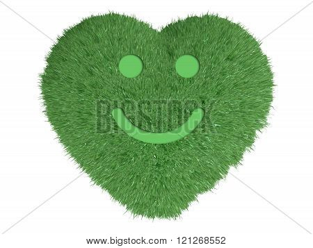 Heart With Grass And Smile