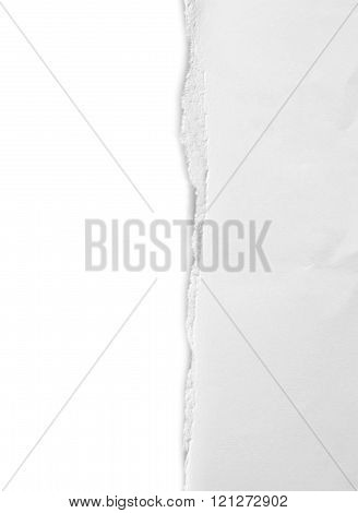 old white paper isolated on white.