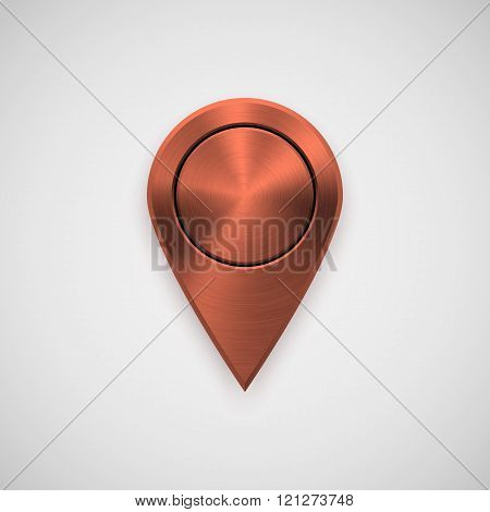 Bronze Technology Gps Map Pointer