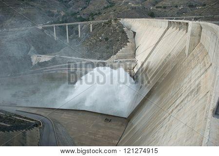 Water dam in Malaga , Andalucia.