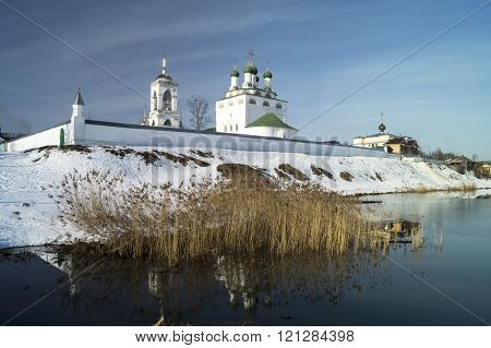 Wall Of The Riverside Priory In Russia