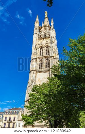 High Gothic Bell Tower Of Catherdal, Bordeaux