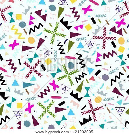 Seamless Background Geometric Shapes