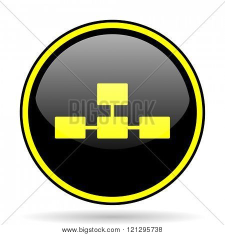 database black and yellow modern glossy web icon