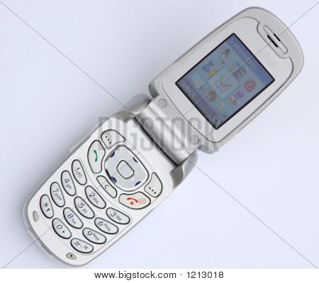 Silber flip-Telefon