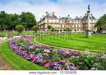 The Luxembourg Palace In Luxembourg Gardens, Paris, France
