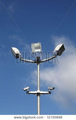 Security Lights And Surveillance Cameras