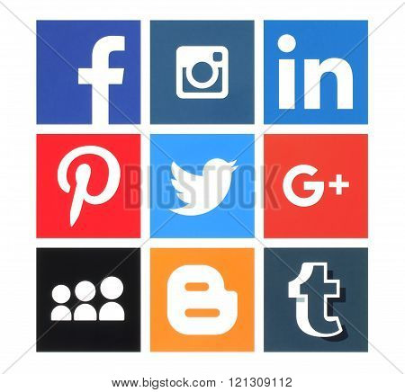 Collection of popular social media logos