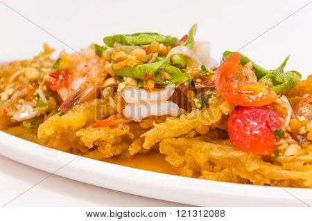 Thai Food (yum Sam Grob) : Crispy Fish Maw In Spicy Salad