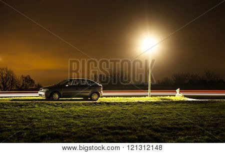 Parked Car At Night