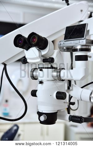 Microscope In Dental Office