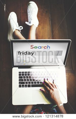 Friday Schedule Agenda Timetable Weekday Work Concept