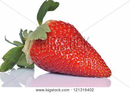 Still life on a delicious strawberry Huelva