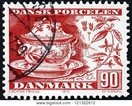 Postage Stamp Denmark 1988 Danish China
