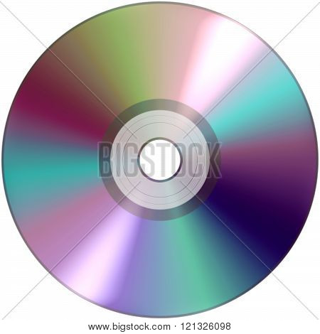 CD DVD for audio and video data recording isolated over white background poster