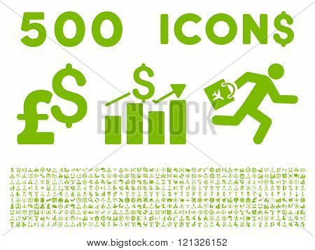 500 Flat Vector Business Icons