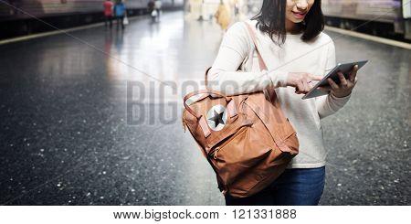 Travel Commuter Destination Tourist Browsing Concept