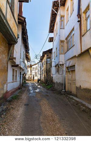 Old town street view of Tarakli
