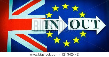UK in or out the European Union concept