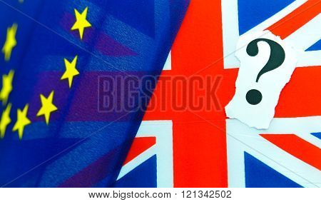 Brexit UK EU referendum concept with flags