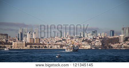 Besiktas District In European Side Of Istanbul City