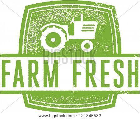 Farm Fresh Market Stamp