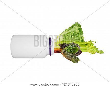Vegetables As A Medicine Concept