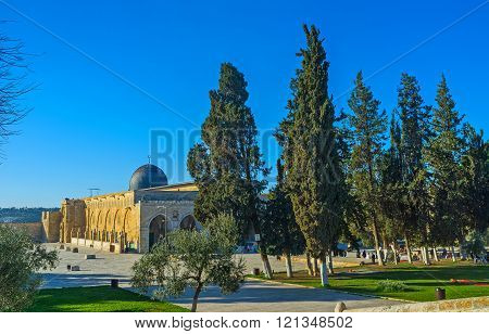 Al-aqsa Behind The Trees