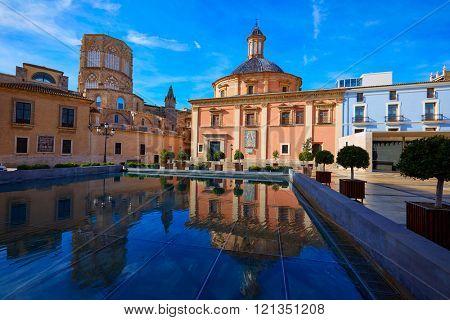 Valencia Basilica Desamparados church and Cathedral of Spain