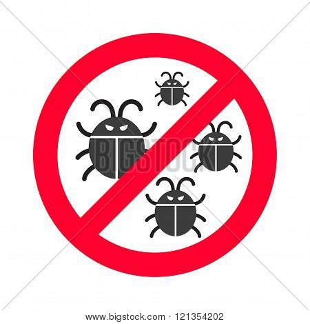 Virus bugs vector illustration