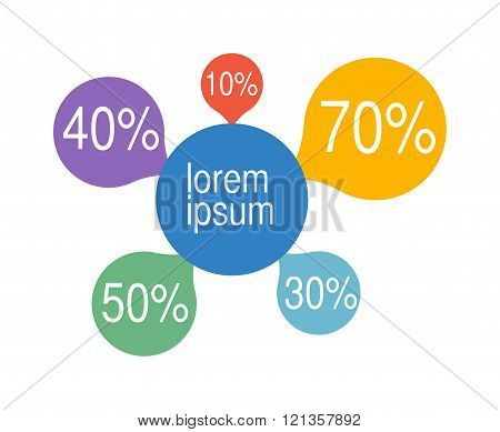 Bubble chart elements vector illustration.