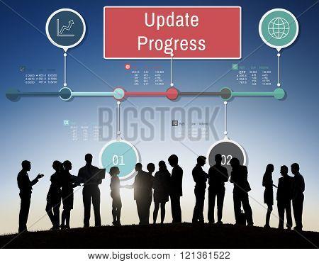 Update Progress Improvement Proceed Information Concept poster