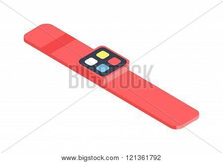 Isometric watch flat 3d isometric graphic vector.