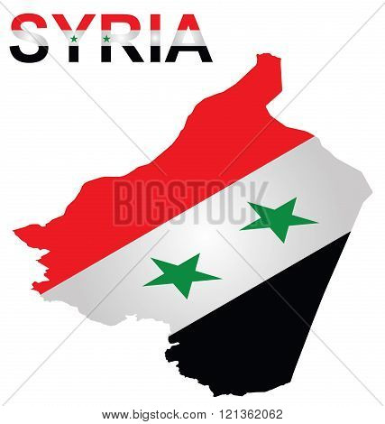 Isometric Syrian Flag